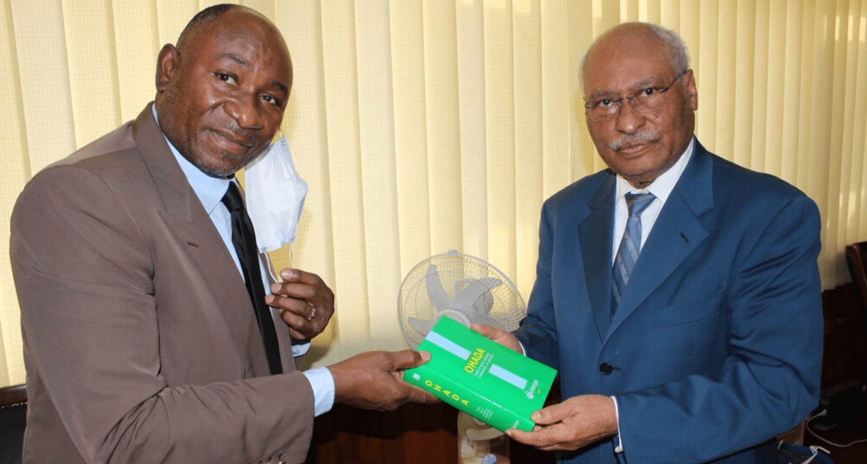 PRESENTATION OF OHADA GREEN CODES TO THE MINISTER OF JUSTICE  OF THE REPUBLIC OF CAMEROON