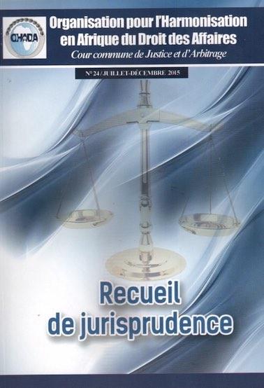 Recueil de Jurisprudence N°24