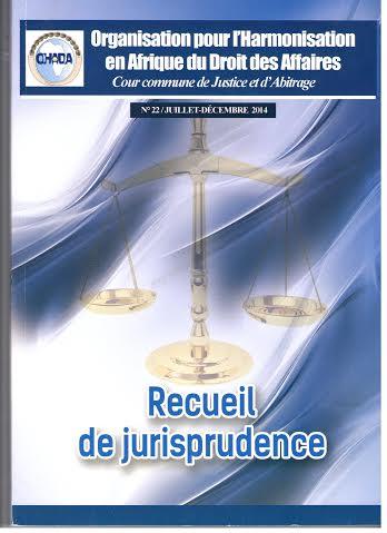 Recueil de Jurisprudence N°22