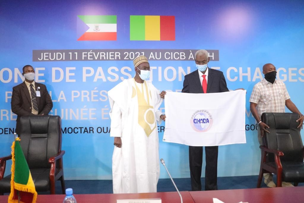 HANDOVER CEREMONY AT THE PRESIDENCY OF OHADA COUNCIL OF MINISTERS   THE REPUBLIC OF MALI TAKES OVER THE PRESIDENCY OF OHADA FOR THE YEAR 2021