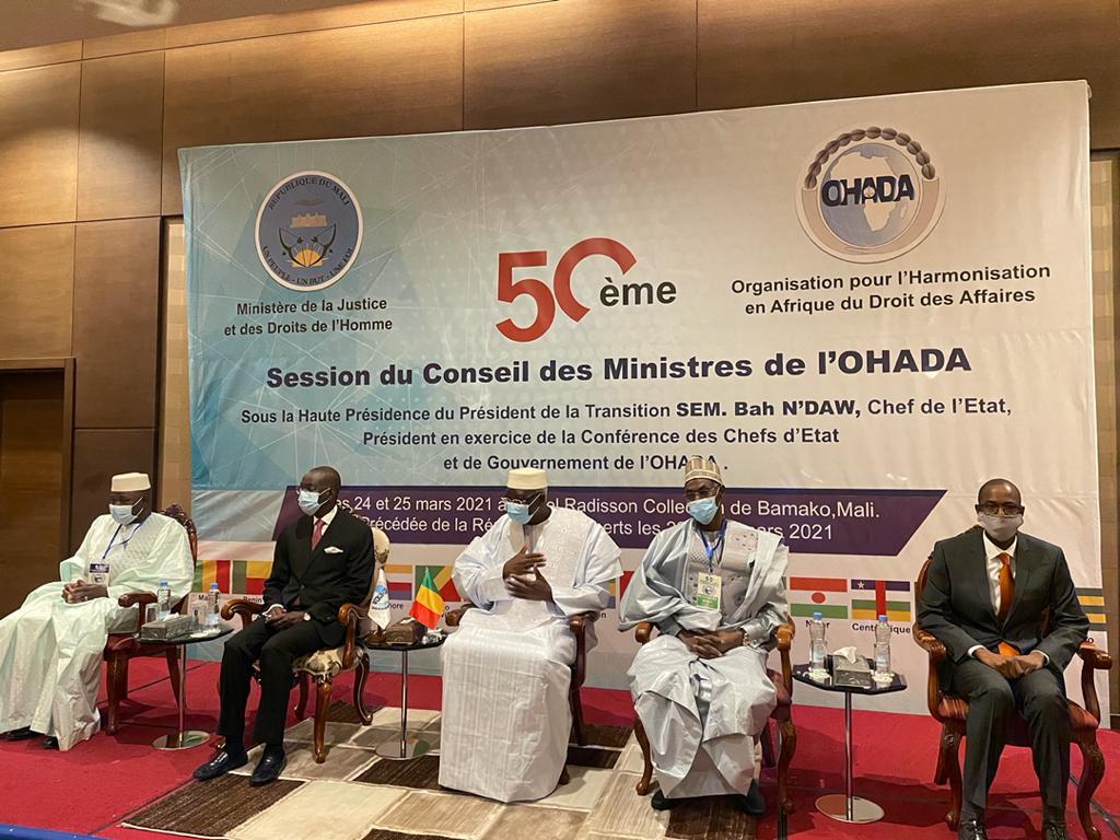 Communiqué : 50e session du Conseil des Ministres de l'OHADA Bamako (Mali)